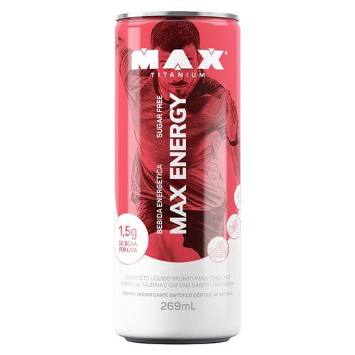 Max Energy Framboesa 269ML - Fardo 6 Latas