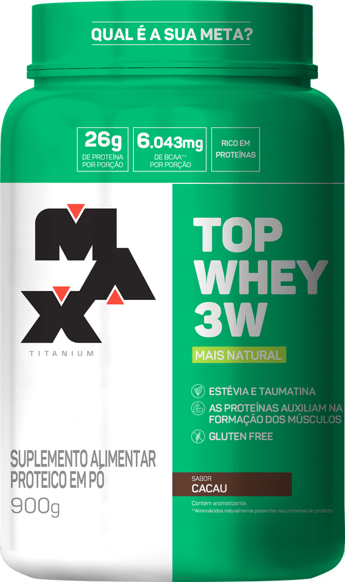 Top Whey 3W + Natural 900G